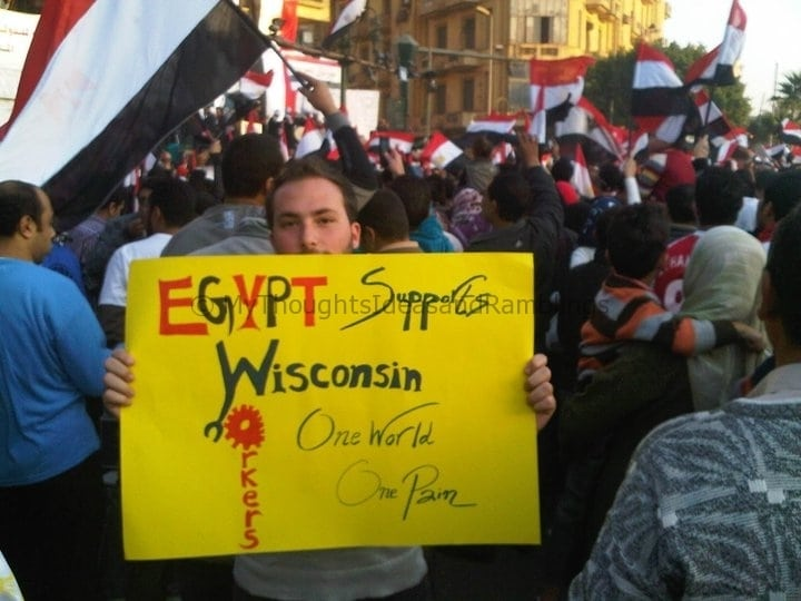 Around the World:  Supporting Wisconsin Unions