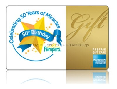 Pampers - 50 gift card AMEX