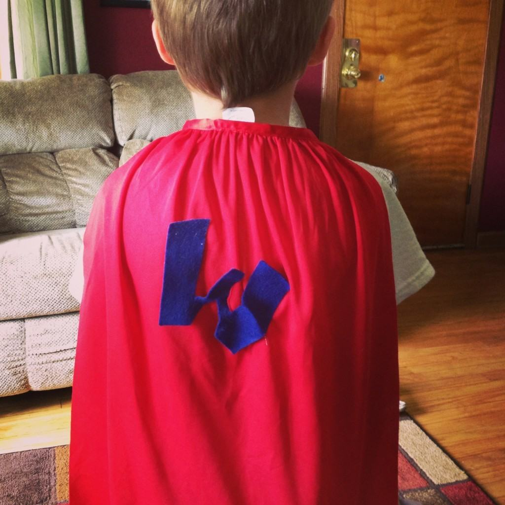 Homemade Superman cape