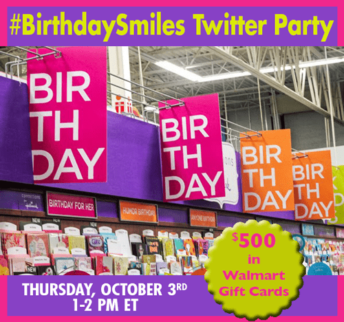 Join me at the #BirthdaySmiles Twitter Party! #shop