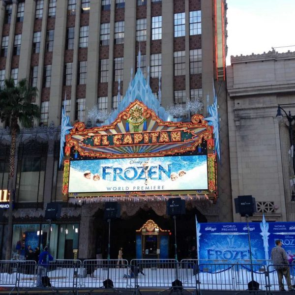 Red Carpet #DisneyFrozenEvent Premiere (errrr . . . make that white carpet)