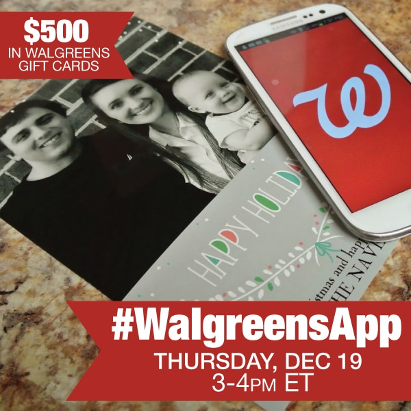 Join me at the #WalgreensApp Twitter Party 12/19 3-4 PM EST