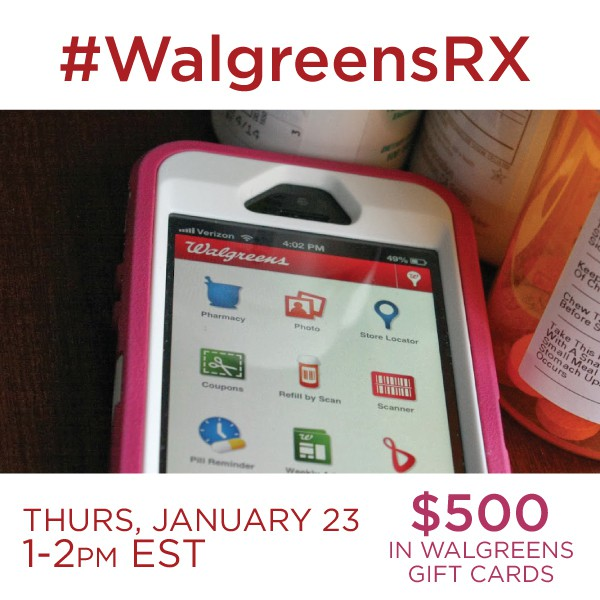 Join me at the #WalgreensRX Twitter Party 1/23 1pm-2 pm ET