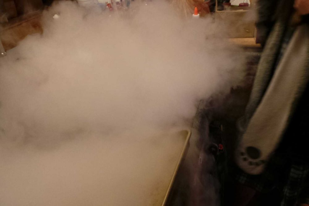Wordless Wednesday:  Playing With Dry Ice