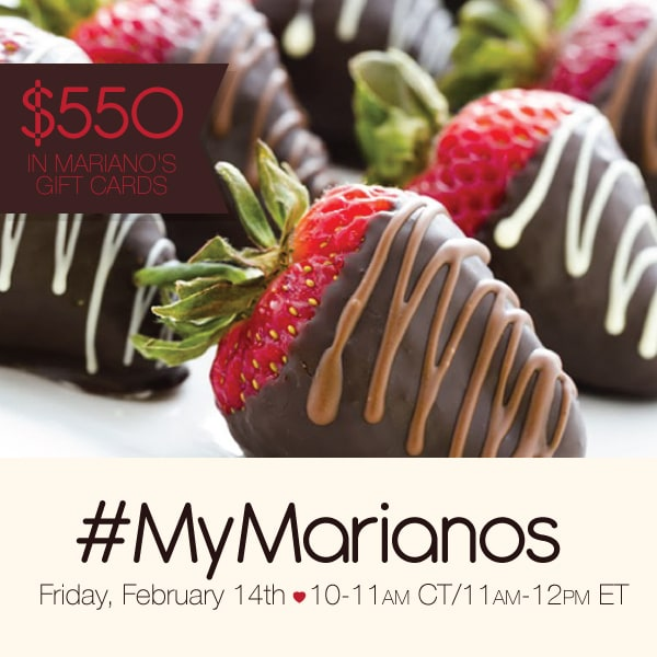 Join Me At The #MyMarianos Twitter Party 2/14 11-12 pm EST