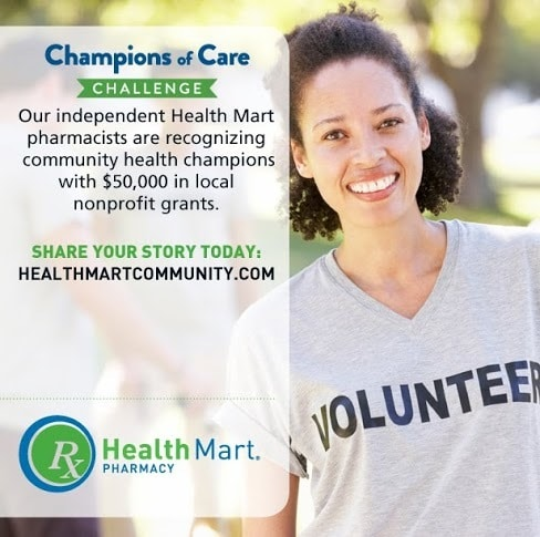 Do you know someone improving health and well-being your community?  #HealthMartCares #ad