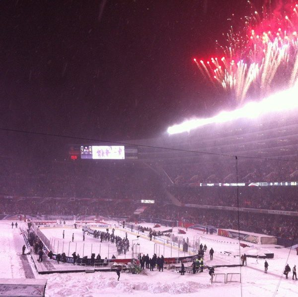 Wordless Wednesday:  Chicago Blackhawks at Soldier Field