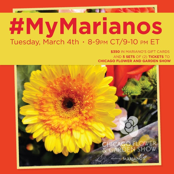 Join Me At #MyMarianos Twitter Party 3/4 8:00 PM CT – Prizes: $540 Value!