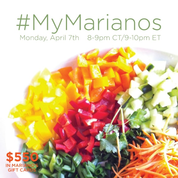Join Me At #MyMarianos Twitter Party 4/7 9:00 PM EST