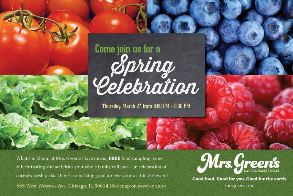 Mrs. Green's Natural Market Spring Celebration Event #GreenIsGood