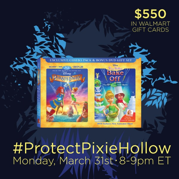 Join Me At #ProtectPixieHollow Twitter Party 3/31 8:00 PM EST