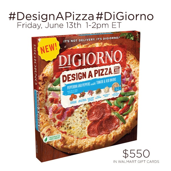 RSVP for the #DesignAPizza #DiGiorno Twitter Party 6/13