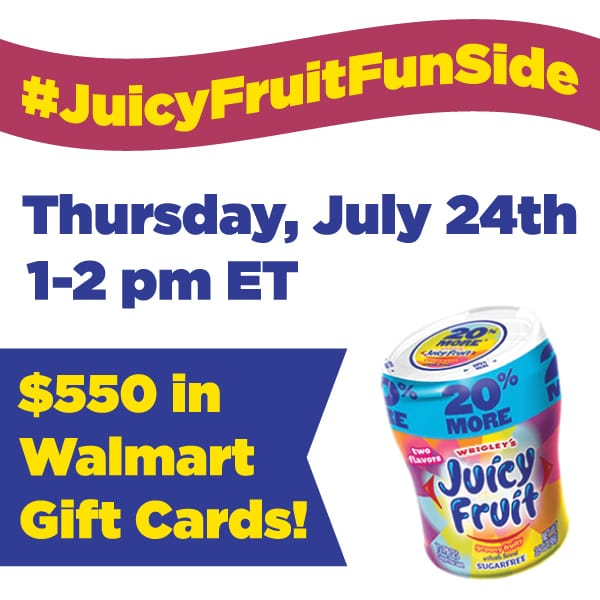RSVP for the #JuicyFruitFunSide  Twitter Party  7/24