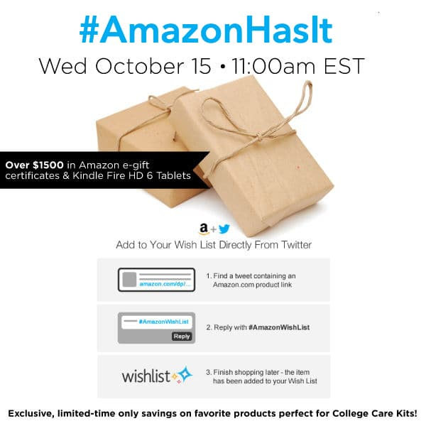 RSVP for the #AmazonHasIt Twitter Party