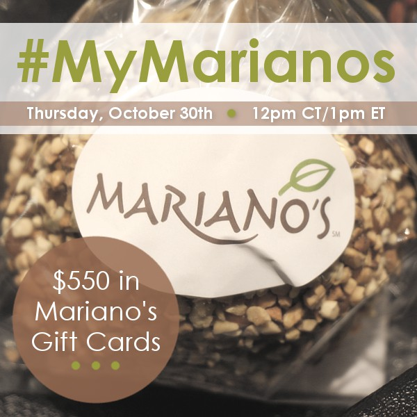 RSVP for the #MyMarianos Twitter Party 10/30