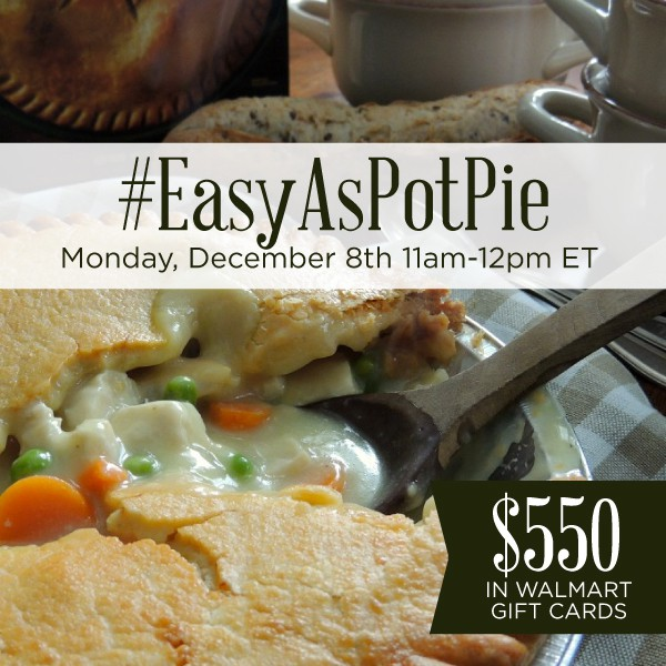 RSVP for the #EasyAsPotPieTwitter Party 12/8
