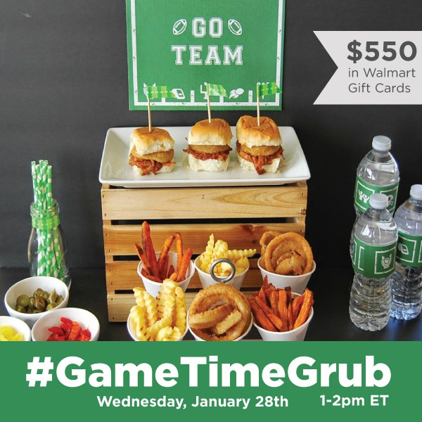 RSVP for the #GameTimeGrub Twitter Party on Jan 28 at 12 EST