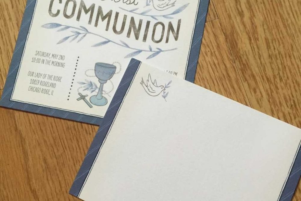 The First Communion Invitation Search