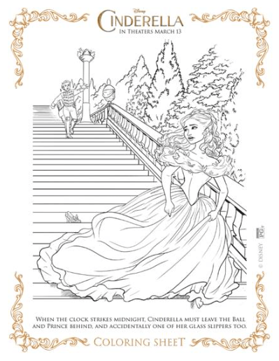 CINDERELLA – Coloring Sheets!!!