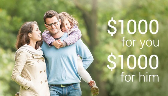 $1000 for you, $1000 for him Prostate Cancer Sweepstakes