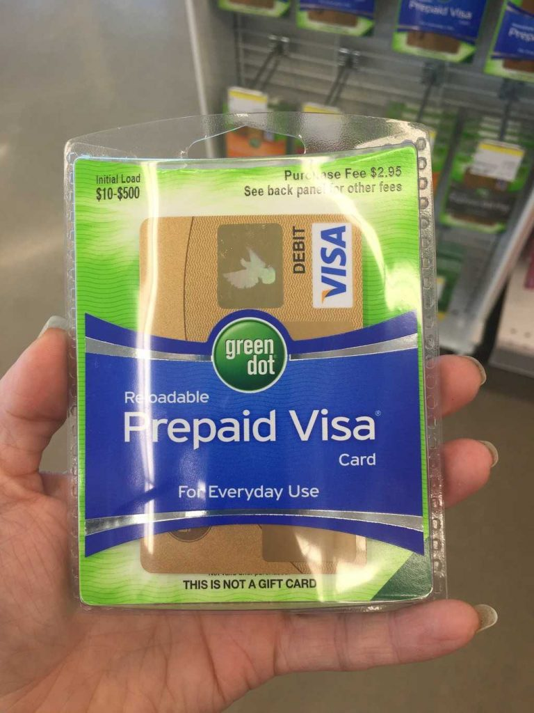 once you get your card you need to load it i loaded mine right at the store additional loading options include - Green Dot Prepaid Visa Card