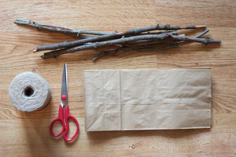 Witches Broom Snack Bag Supplies