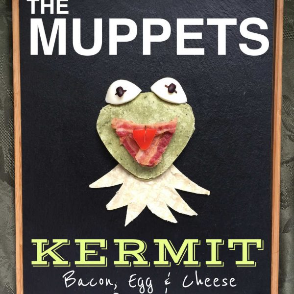 Kermit Bacon, Egg, and Cheese Quesadilla