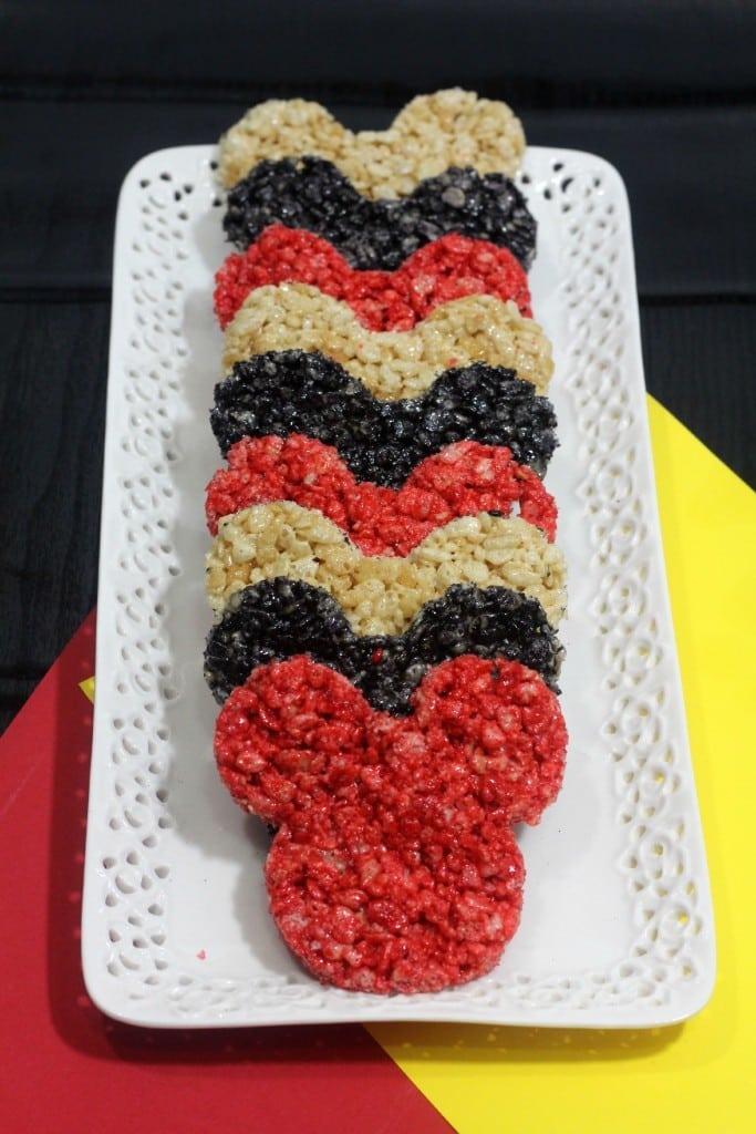 Rice Krispie Mickey Mouse treats