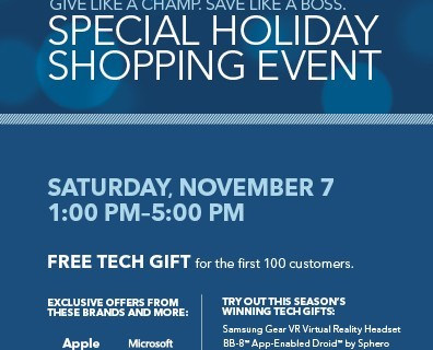 Best Buy Holiday Shopping Event