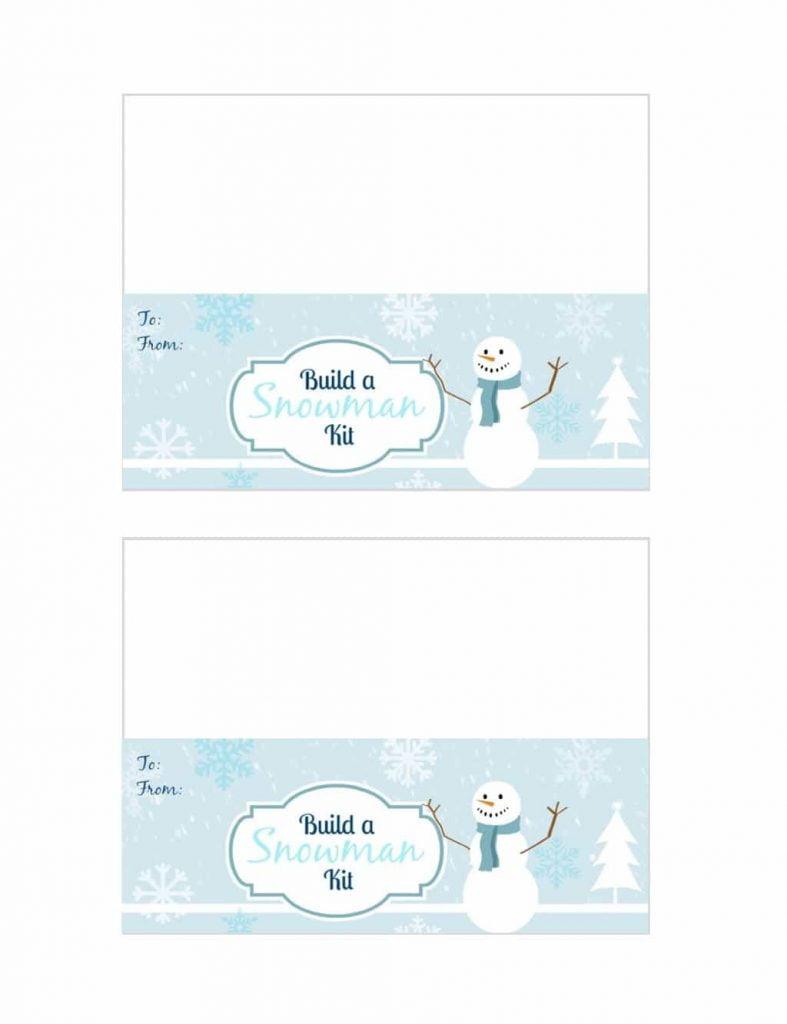 Snowman Kit Printable