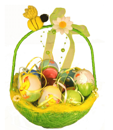 Amazons top 10 cute easter basket ideas my thoughts ideas and hand painted easter eggs in a cute basket with handmade decor negle Image collections