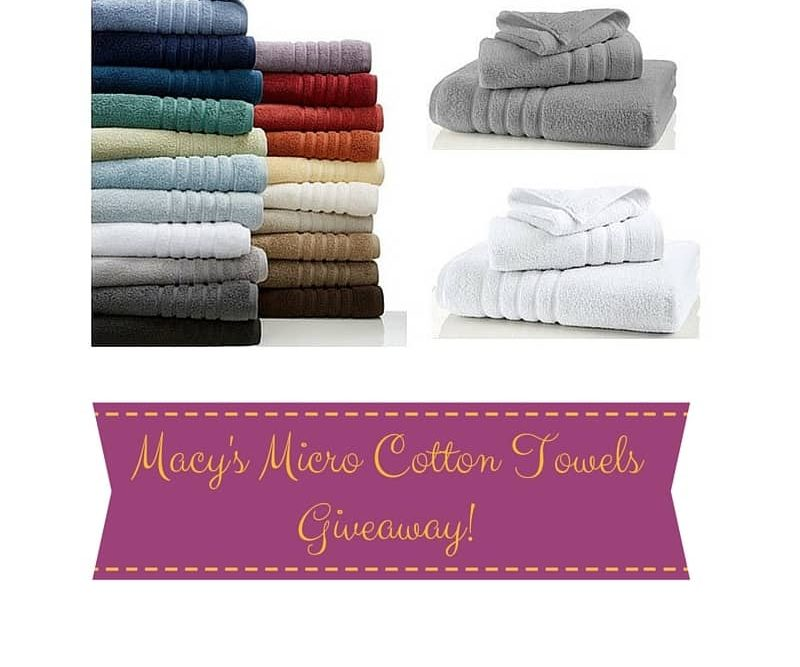 Macy's Micro Cotton Towels Giveaway!
