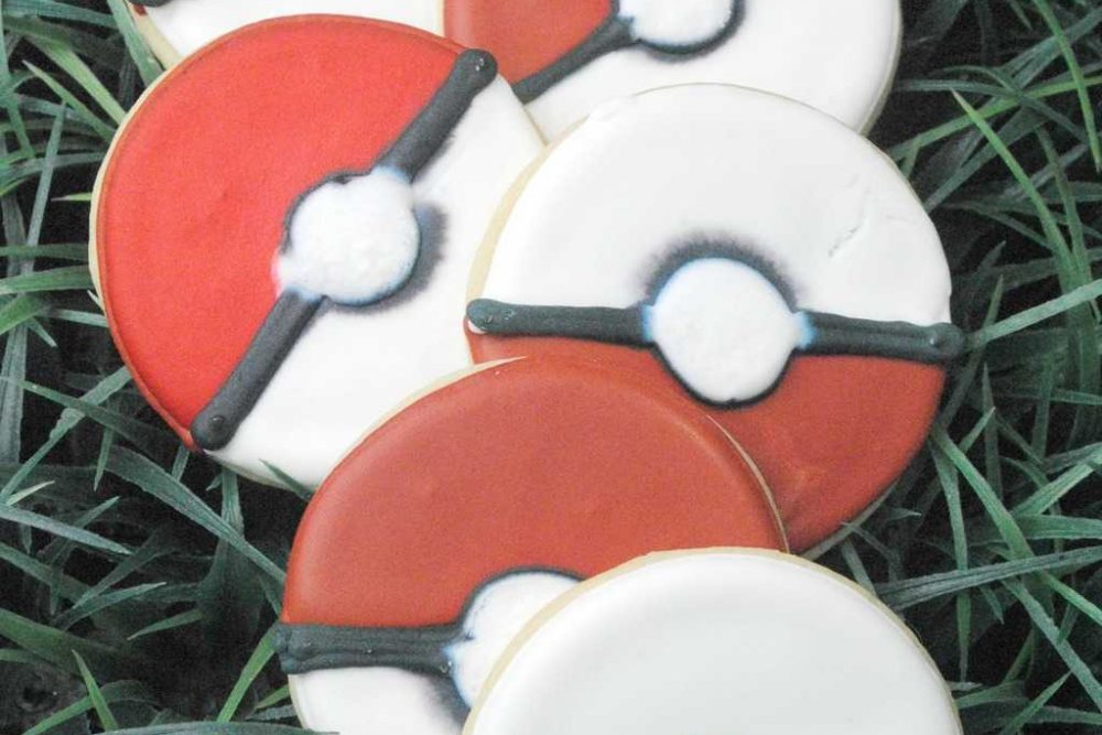 Pokemon Go Ball Cookies