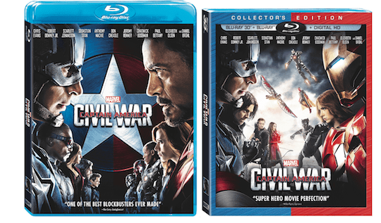 Marvel's Captain America: Civil War On Digital HD on Sept. 2 and Blu-ray on Sept. 13