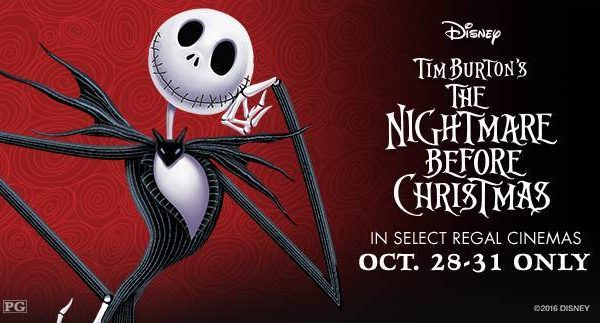The Nightmare Before Christmas – Returns to Regal Cinemas this Halloween Weekend!!!