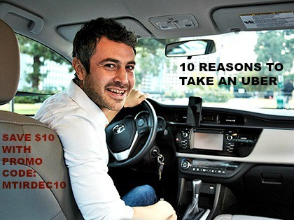 10 Reasons To Take An Uber And $10 Promo Code For Your First Ride!