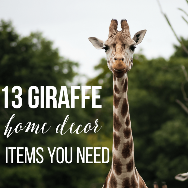 13 Giraffe Home Décor Items You Need