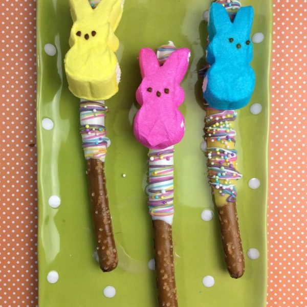Chocolate Pretzel Peeps