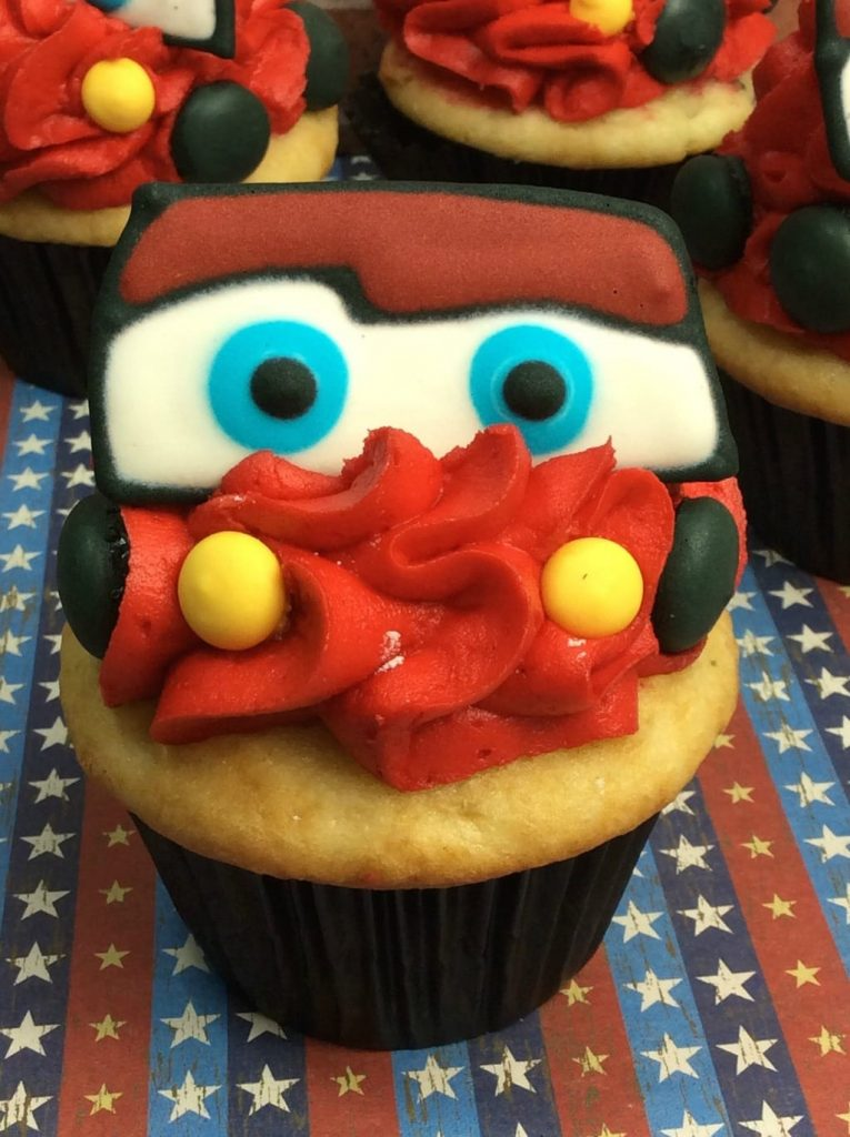 Lightning McQueen Cupcakes My Thoughts Ideas and Ramblings
