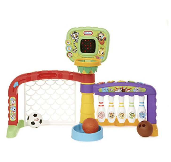 little tikes light n go 3 in 1 sports zone age 12 36 months triple the play dunk kick and score with babys 3 favorite sports basketball