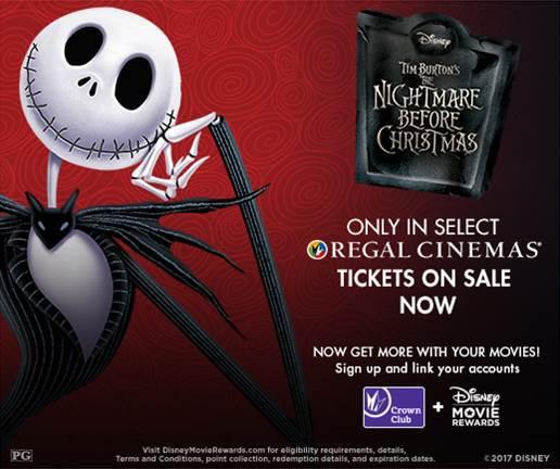 The Nightmare Before Christmas – Returns to Regal Cinemas Halloween Weekend