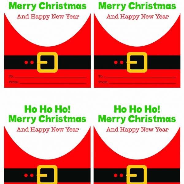Printable Santa Gift Tags