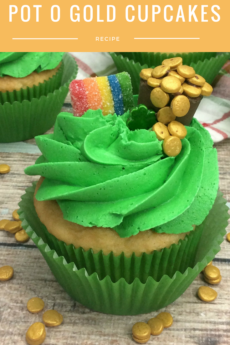 St Patrick's Day Recipe – Pot O Gold Cupcakes