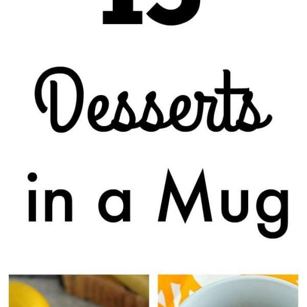 15 Desserts in a Mug