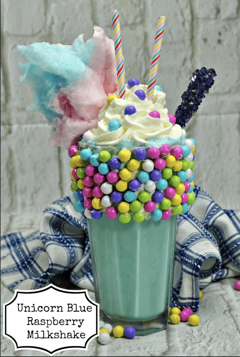 Unicorn Blue Raspberry Milkshake