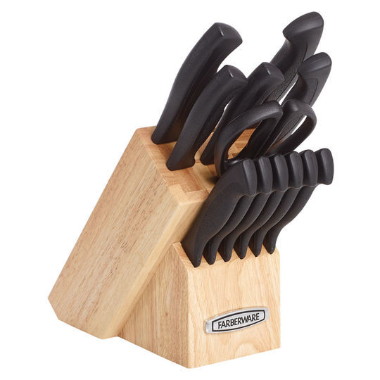 Farberware Knife Armor Dishwasher Safe Knives and Knife Block Set