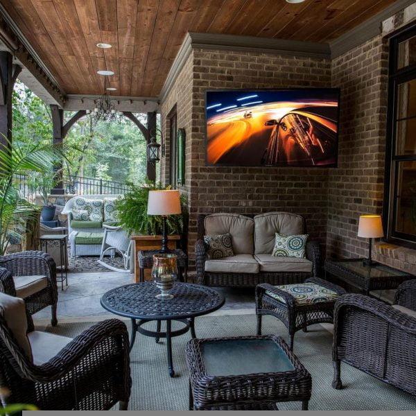 Outside TV Viewing:  The SunBriteTV Veranda