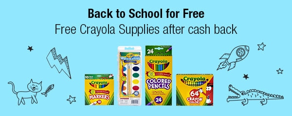 Free Crayola Supplies After Cash Back!  Good thru 8/16!