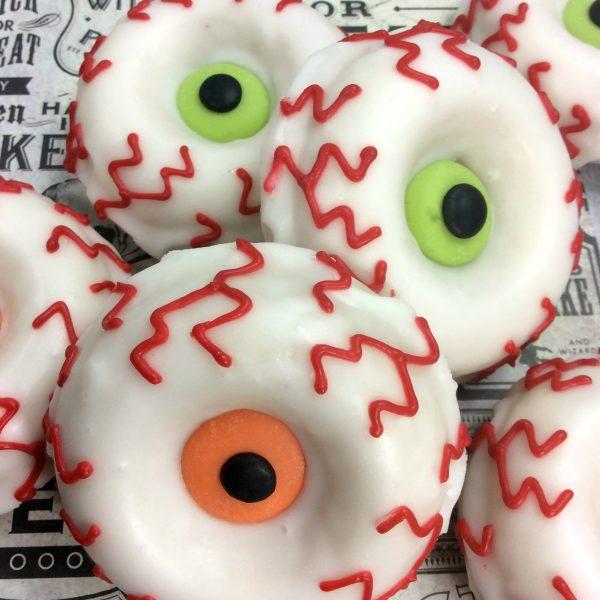 Halloween Recipe:  Monster Eye Doughnuts