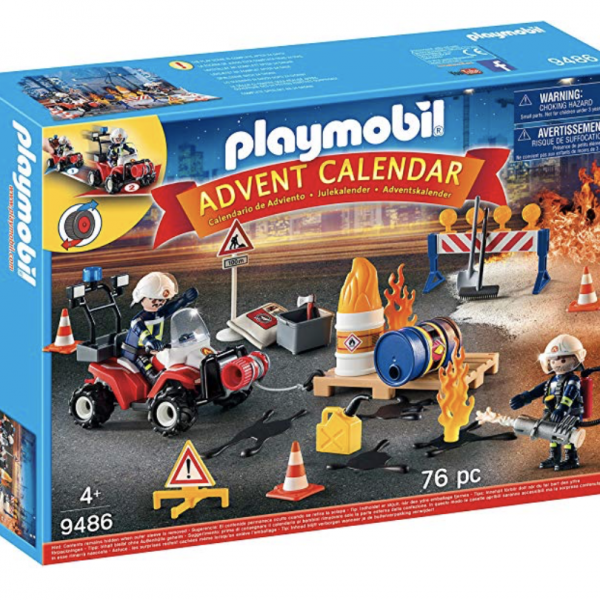 PLAYMOBIL Advent Calendar – Construction Site Fire Rescue